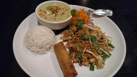 Noodle Wave: Lunch Special - Pad Thai, Green Curry Chicken
