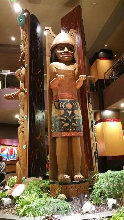 """Tulalip Casino: Lobby area, room including """"triple head shower"""" and outstanding crab salad and seafood chowder."""