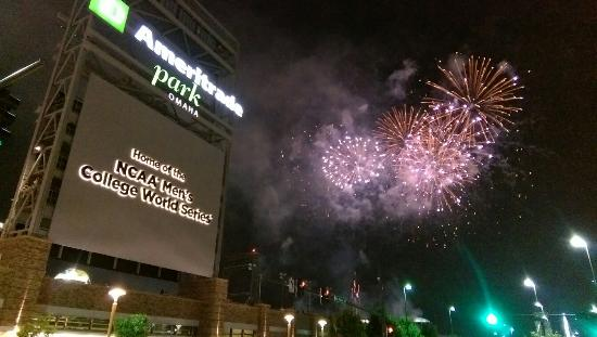 TD Ameritrade Park : College Home Run Derby and World-Herald Fireworks celebration