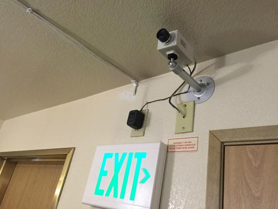 Village Inn and Suites: Security - optional - just unplug it if you don;t like it