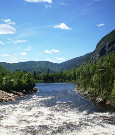 Parc Régional des Hautes-Gorges de la Rivière Malbaie: View from the dam