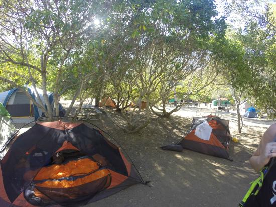 Hermit Gulch : Our campsite, the orange tents are ours, the other tent is neighbor's