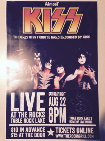 """The Rocks Lakeside Grill and Lounge : Aug 22 at The Rocks Lakeside Grill, The ONLY band endorsed by  """"Kiss """" don't miss this concert"""