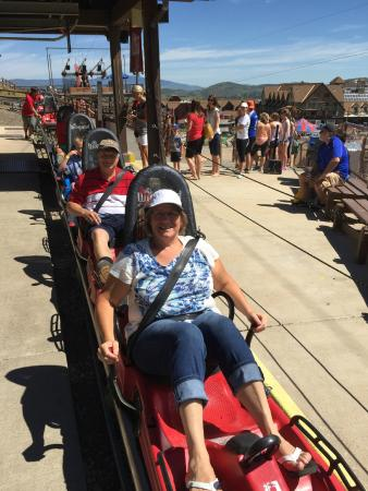 Alpine Coaster: Going up to the top