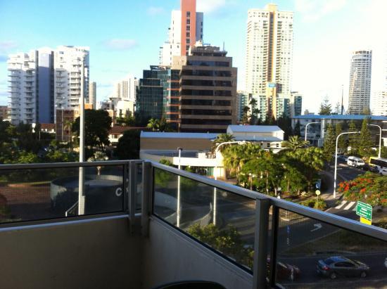 Waterways Luxury Apartments: On the balcony