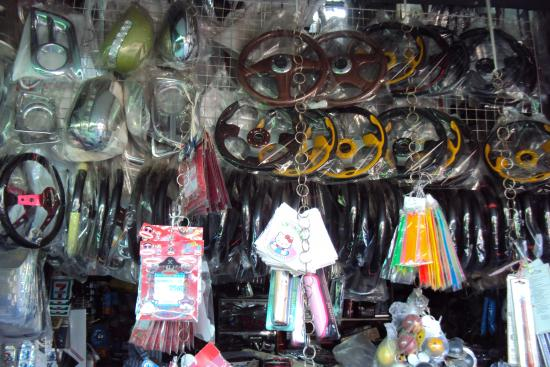 Motor bike and car accessories - Picture of Rong Kluea Market ...