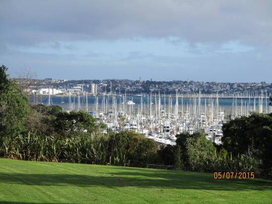 Auckland Takapuna Oaks: View from little balcony