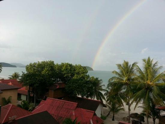 Malibest Resort: Rainbow after the Rain, View took from Room Balcony