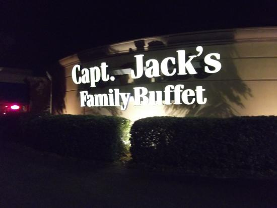 Captain Jack's : Their Sign to Look for at night.