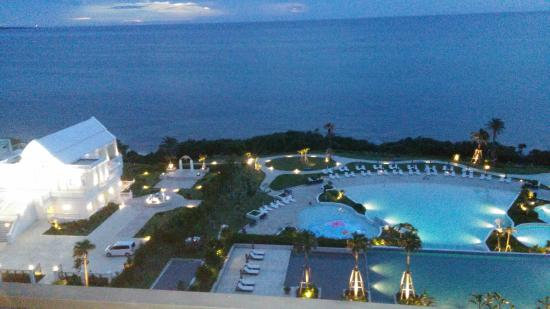 Hotel Monterey Okinawa Spa Resort Pool And Sea View Outside In Balcony