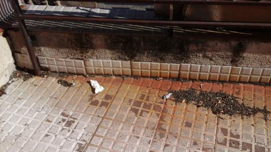 Alda Centro Salamanca: Terraza por limpiar....