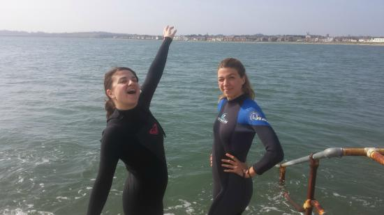 Outdoor Dublin: About to jump into the water!!