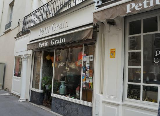 normally you see outside tables here picture of petit grain lyon tripadvisor. Black Bedroom Furniture Sets. Home Design Ideas