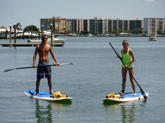 Tampa Bay SUP Stand Up Paddleboarding & Kayaking : Paddleboarding on our 3 year anniversary