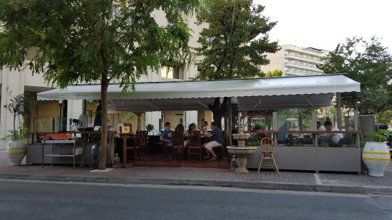 Outdoor dining area picture of alexander the great greek for Alexanders greek cuisine