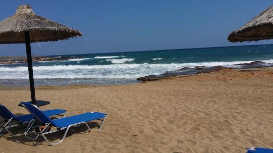 Strand Leider Rote Fahne Bild Von Cretan Malia Park Malia