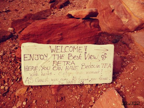 Haut-lieu du Sacrifice : right before you arrive they encourage you to keep it up to see the best view of petra
