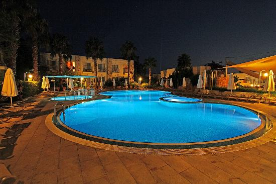 Mandarin Resort: Pool view at night