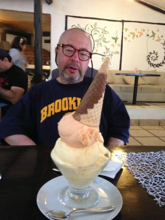 Ice cream - quinoa, mango, passion fruit