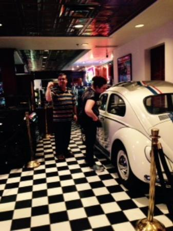 """that's the car """"Herbie"""" (from the movie) in the mini museum within Celebrity Hotel"""