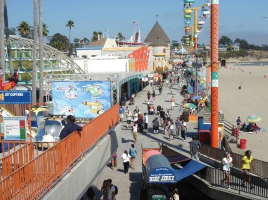 Santa Cruz Beach Boardwalk Aerial View Of The