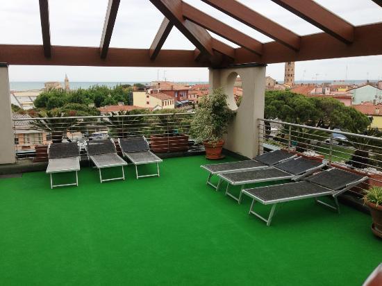 Hotel Cleofe : Dachterrasse