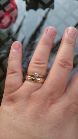 Latina Goldsmith My New Gold Wedding Band And Re Sized Engagement Ring