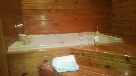 The Resort at Fairfield Harbour : Hot tub in our unit