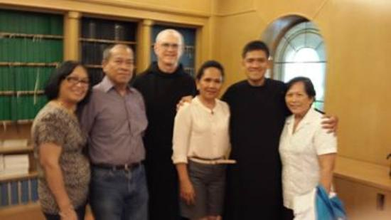 Mount Angel Abbey: A pose after the mass with Brother Mario Ramos of Manila