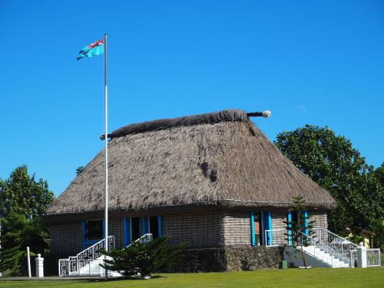 Fiji: The house of the village chief
