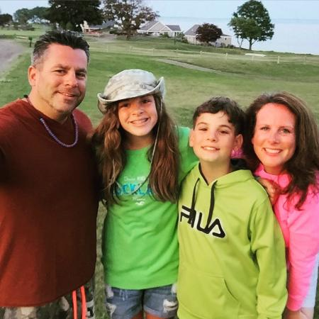 Rockport, ME: Family pic near golf area