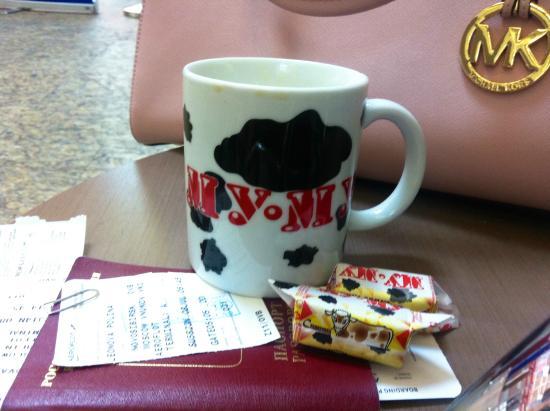 Cafe Mu-Mu: закончились стаканы на вынос-подарили кружку - довольная как ребенок:)