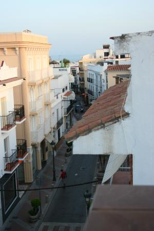 Hostal Dianes: City views from the terrace.