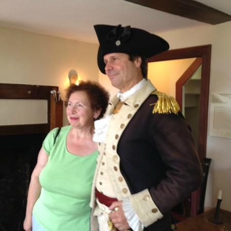 The Stephen Hopkins House: General Nathanael Greene poses with SHH visitors