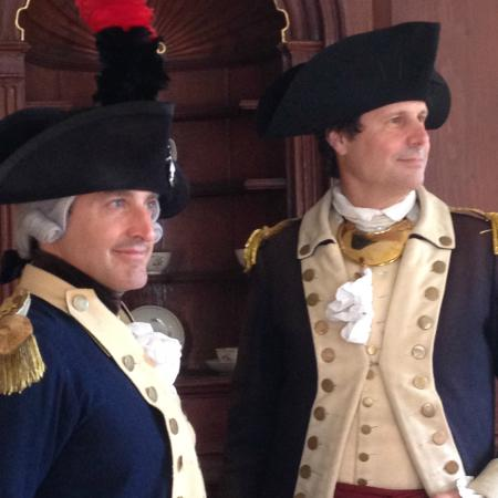 Marquis de LaFayette & General Nathanael Greene at the Stephen Hopkins House