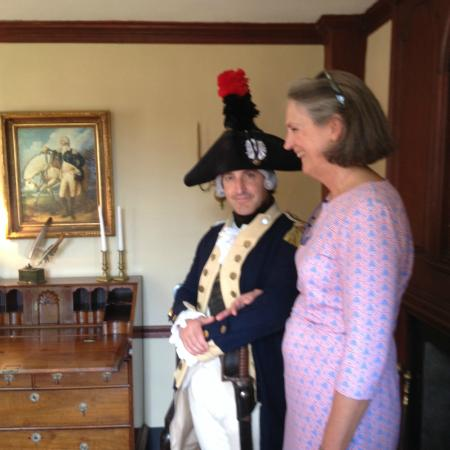 The Stephen Hopkins House: The Marquis with Mount Vernon's Liz Mauran at the SHH