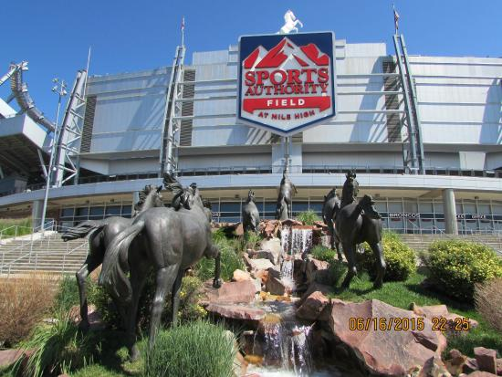 Horse Statue Picture Of Sports Authority Field At Mile