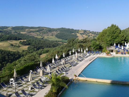 Vista dalla stanza sulla valle foto di albergo posta marcucci bagno vignoni tripadvisor - Bagno vignoni hotel posta marcucci ...