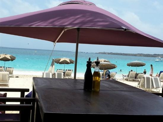 Orient Bay Beach View From Inside Bikini Bar