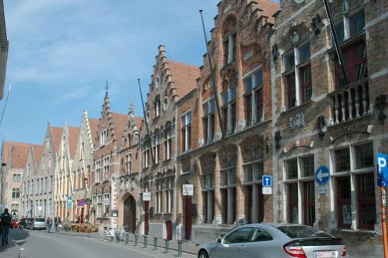 Bruges Art Route: a street near the city centre