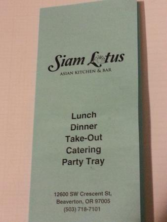 Siam Lotus Asian Kitchen U0026 Bar: Siam Lotus