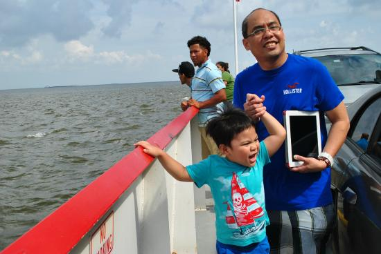 Galveston - Port Bolivar Ferry: ferry  boat deck