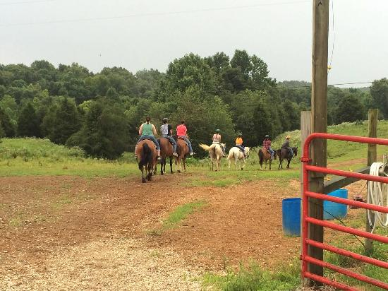 Double J stables & Campgrounds: Group 2 heading out