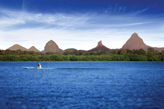 Sunshine Coast, Australia: Kayaking Pumicestone passage at Caloundra