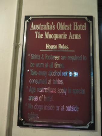 Macquarie Arms Hotel: Oldest hotel