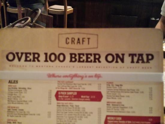 Beer Menu  Picture Of Craft Beer Market Vancouver  Tripadvisor