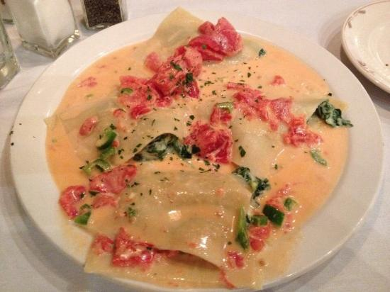 J. Razzo's: Open Faced Ravioli