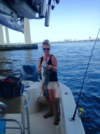 Had a great day of fishing picture of mega bite for Biloxi fishing charters