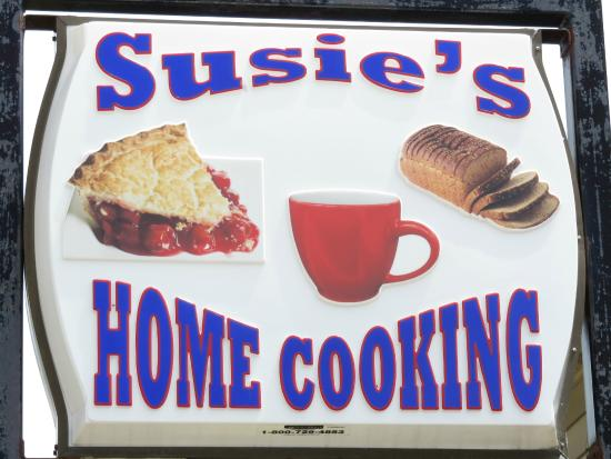 Lomira, WI: Susie's Sign Out Front