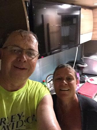 Platte City, MO: Drowned Rats from a tornado warning.   Where no one picked us up as they flew by in their golf c